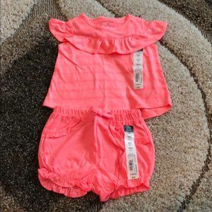 NWT Okie dokie • bright pink T-shirt and shorts